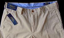 Men's POLO RALPH LAUREN Boating Khaki Pima Cotton Pants 33x32 NEW NWT Classic