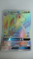 Rare Pokemon TCG Card Dragons Majesty Dragonite GX Rainbow PROMO Jumbo Oversized