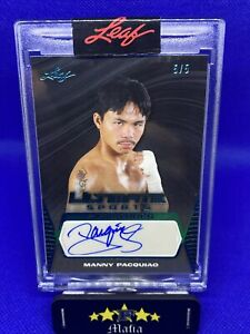 MANNY PACQUIAO 2021 Leaf Ultimate Sports Signatures #'d 5/5 Autograph 🔥🔥💯