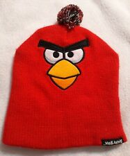 Angry Birds Red Bird Unisex Knit Beanie Cap Hat Red 100% Acrylic One Size