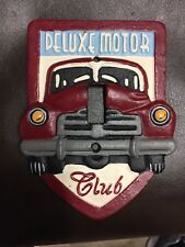 """HEAVY CAST IRON SINGLE LIGHT """"DELUXE MOTOR CLUB""""  SWITCH PLATE COVER"""