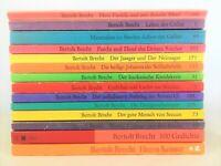 14x Brecht - Suhrkamp Bücherpaket Sammlung  Regenbogen Taschenbücher Bibliothek