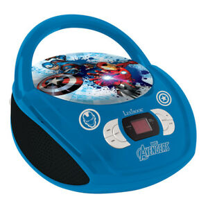 Lexibook Avengers Boombox Kids CD Player with AUX & FM Radio