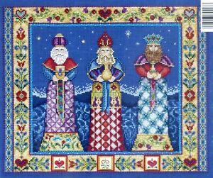 Three Kings Cross Stitch Kit Chart Fabric Beads Kreinik Braid Jim Shore JSP006