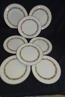 Royal Doulton England Holiday Set of 8 Dinner Plates 10 1/2'