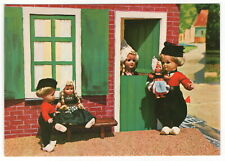 "Vintage Holland Postcard: ""Doll"" Children Scene - ""Dolls From Dovina"""