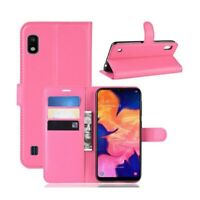 Coque Etui Housse Portefeuille Protection Rose pour Samsung Galaxy A10 / M10