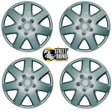 "Hyundai Coupe Silver Tempest Easy To Fit 15"" Wheel Cover Hub Caps x4"