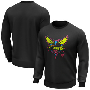Charlotte Hornets Sweatshirt Men's Pop Graphic Sweatshirt - Black - New