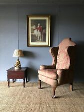 A Delightful Antique Ladies Early Georgian Style Library Wing Back Arm Chair