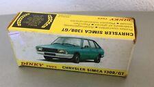 1981# VINTAGE ULTRA RARE DINKY TOYS 1542 SIMCA CHRYSLER 1308 GT #NIB 1:43