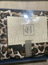 Warm & Cozy Oversized Throw Bootie Gift Set Animal Print Check New Faux Sherpa