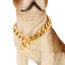 13/15/19MM Stainless Steel NK Chain Dog Collar Necklace For Pit Bull Pet Choker