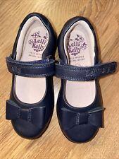 LELLI Kelly School Shoes 24 F New Dark Navy Blue