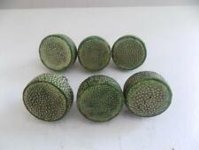 More details for art deco type set of 6 genuine shagreen circular handles