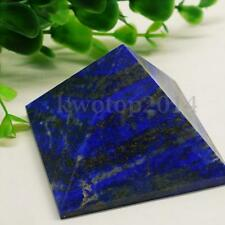 Natural Lapis Lazuli Crystal Quartz Pyramid Decor Healing Energy Tower Ornaments