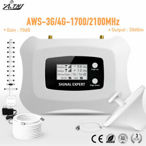 AWS 1700MHz Signal Booster 3G 4G signal  Repeater Yagi ceiling 70dB Amplifier