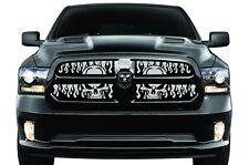 Winter Grille Dodge Ram Truck 1500 13-15 Aluminum Grill Cold BLACK FLAME SKULLS