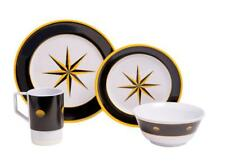 Galleyware Black Compass 16-pc. Melamine Dinnerware Set