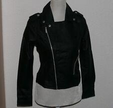 adidas G83494 Faux Biker Jacke Damen Leder Motarad Jacke Schwarz Gr. 34 UK8 dde89d826d