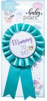 Mamá a Abeja Lote, Hermoso Azul Satinado Decoración, Baby Shower Actividades