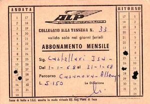 1968 TESSERA AUTOBUS AUTOSERVIZI LENGUEGLIA PAOLO ALBENGA LIGURIA 1-117