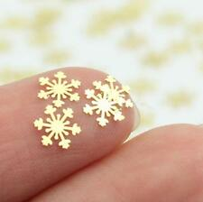 Gold Snowflakes Metal Effect 2018 Nail Art Decorative Decals Xmas Christmas Gift