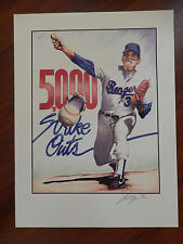 "Nolan Ryan 5000K 18"" X 24"" Lithograph Signed and Numbered by Artist - 41/500"