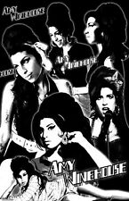"AMY WINEHOUSE  11x17  ""Black Light"" Poster"