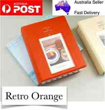 Orange 64 Pocket Polaroid Photo Films Album Case FujiFilm Instax Mini 8/7/7S/90