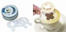 16pcs Coffee Chocolate Cappuccino Stencil Cake Sprinkler Strew Pad Spray Duster