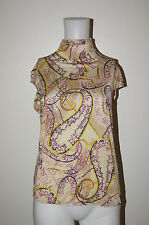 EMANUEL UNGARO PARIS SIZE 38 VISCOSE TURTLENECK TOP BLOUSE