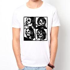 Beatles Skull Face design graph art pop retro John rock band party gift t-shirt