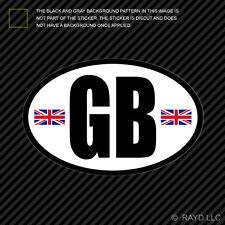 GB - Great Britain Oval Flag Sticker Die Cut Decal United Kingdom English