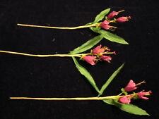 """Vintage Millinery Flower 1 1/4"""" Deep Pink Lot of3 KC5"""