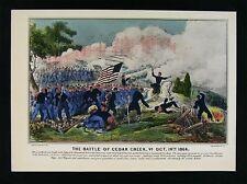 Currier & Ives Civil War Print - Battle of Cedar Creek Virginia General Sheridan