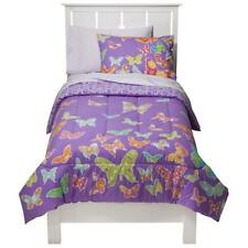 New Circo Butterflies  Purple Collection TWIN Bedding Set 5 pieces Reversible