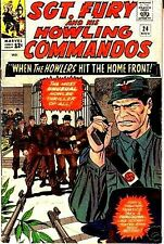 SGT FURY 24 SERGEANT & HIS HOWLING COMMANDOS 1963 MARVEL VF- SERGEANT