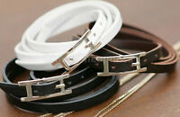 Hot Womens Mens Charm  New Woven PU Leather Bangle Cuff Bracelet 0G