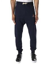 Vivienne Westwood Men's Navy Puppet Embroidered Joggers Sweatpants Size S