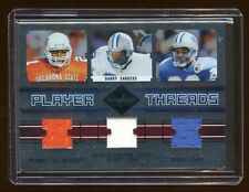 2004 LIMITED BARRY SANDERS TRIPLE GAME WORN JERSEY #D /50 OKC-LIONS   HOF   RARE