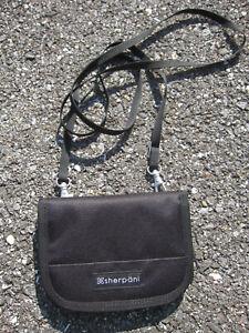 SHERPANI Zoe Travel Crossbody Zip Around Wallet Black