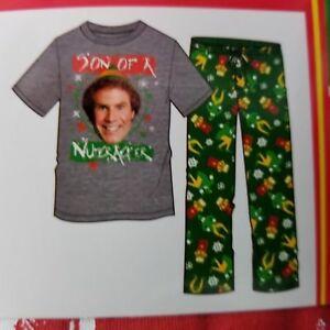 Elf Son Of Nutcracker Men's 2 Piece M Pajamas Set Top Lounge Pants Sleepwear New