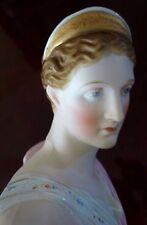 Bust Statue Diana Artemis Hand Painted Bisque Parian Greek Goddess Antique Pocel