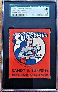*RARE* SUPERMAN (1940) LEADER NOVELTY COUPON -  SGC GRADED 60  (EX)