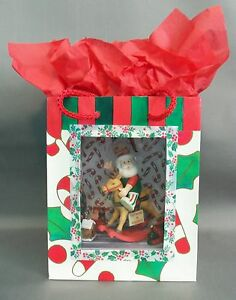 Dollhouse Miniature Santa's Workshop Roombox Scenario in a Gift Bag