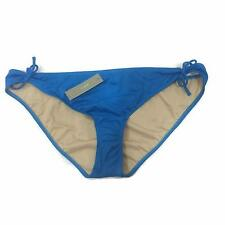 J.CREW Womens Swimwear Size XL Bikini Bottom Blue Side Tie Hipster Solid New 28