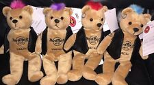 4 Hard Rock Hotel MACAU 2009 PUNK ROCK Teddy Bearas w/Mohawks Plush Bear ARCHIVE