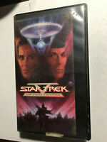 STAR TREK THE FINAL FRONTIER WILLIAM SHATNER LEANORD NIMOY VHS HARD CASE 1989