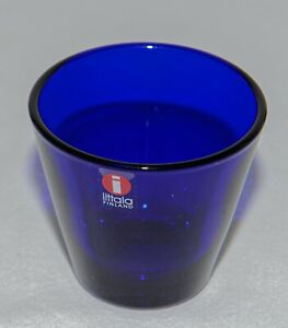 Vintage Kaj Franck Cobalt Blue Kartio Snaps Dram Glass Iittala Finland New